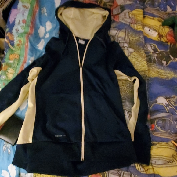 Nike Other - Nike navy blue and gold thermal drive fit jacket